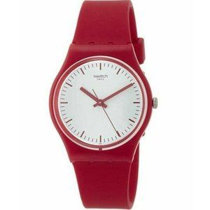 Swatch Mens Puntarossa Watch Analog Quartz Red